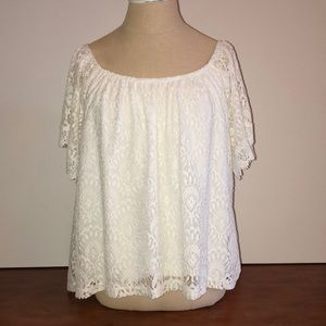 Tops - Lace strapless top